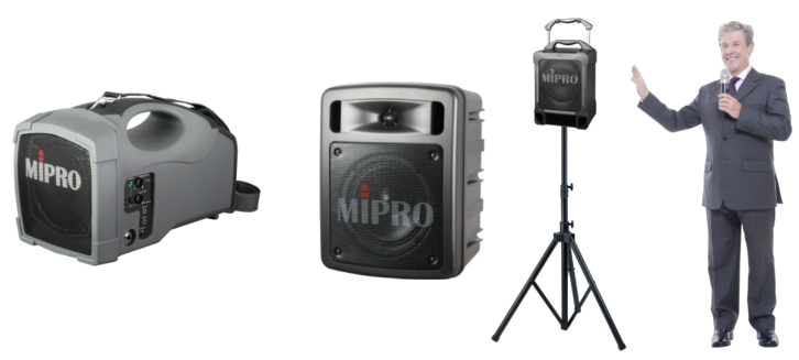 Mipro portables with wireless microphones